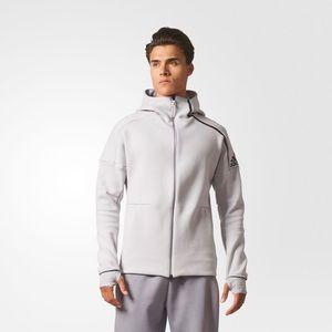 Addidas white fleece jacket